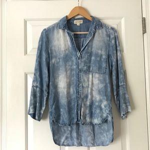 Cloth and Stone denim 3/4 shirt